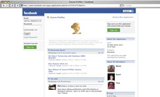 Screengrab: Open University course profiles on Facebook.