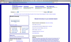 Screengrab: Warwick University at MySpace..