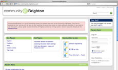 Screengrab: Community @ Brighton.