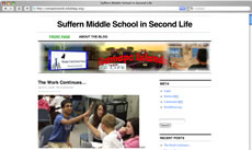 Screengrab: Suffern Middle School in Second Life.