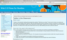 Screengrab: Twitter in the Classroom.